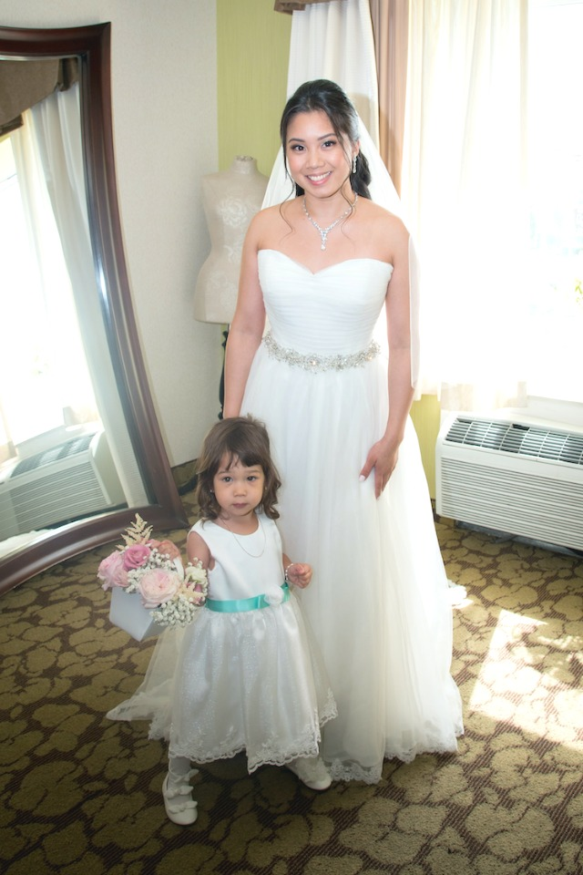 MP Bride and Flower Girl